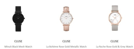 Save up to 40% off selected Cluse watches!