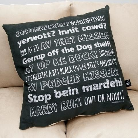 SAVE £3 - Nottingham Phrases Faux Suede Cushion