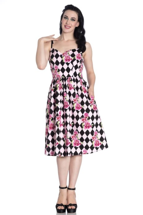 Hell Bunny clothing now available at Ice Nine - harlequin 50's dress £41.99!