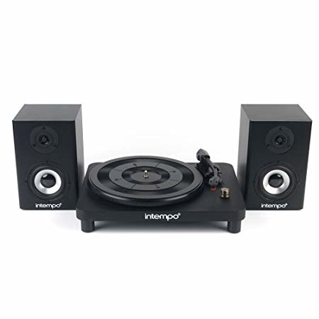 OVER 70% OFF - Intempo Vinyl Turntable With Stereo Speakers!