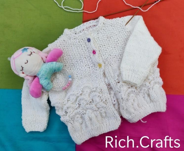Knitting baby cardigan