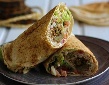 Enjoy our Vegan Falafel Wrap for just £5.50 today!