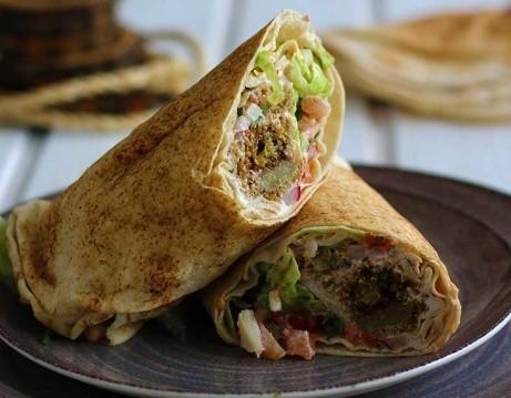 Enjoy our Vegan Falafel Wrap for just £5.50 today!