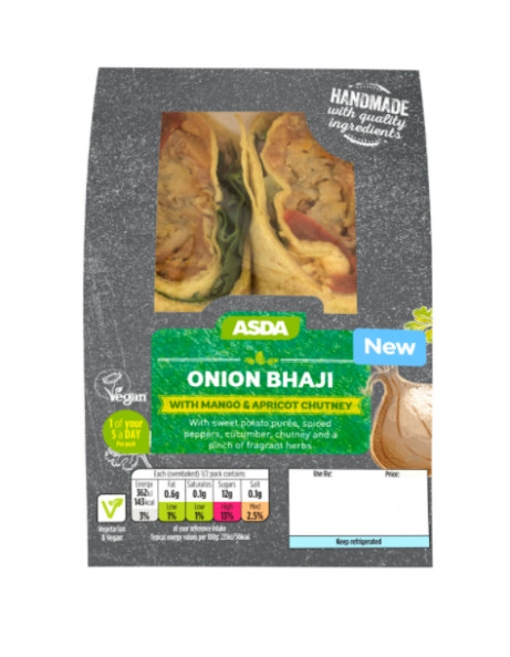 VEGAN OPTIONS - Onion Bhaji Wrap: £2.50!