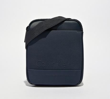 Calvin Klein Mini Flat Crossover Bag in Navy - 40% OFF!