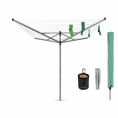 SAVE 20% OFF Brabantia 50 Metre 4 Arm Liftomatic Rotary Airer with Accessories!