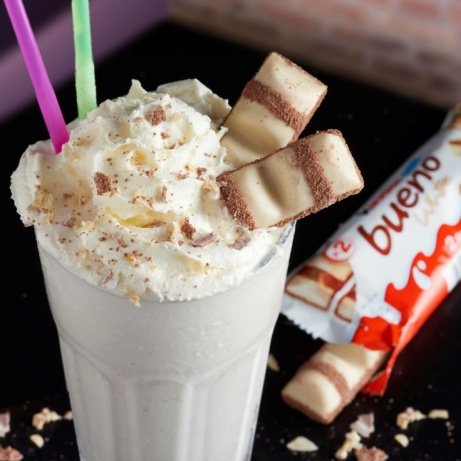 Enjoy a milkshake at creams with extra cream and toppings - the right way to start your Saturday!