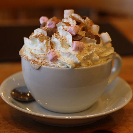Enjoy a Seasonal Drink whilst it's still cold outside - Choc Cherry Delight £3.65!