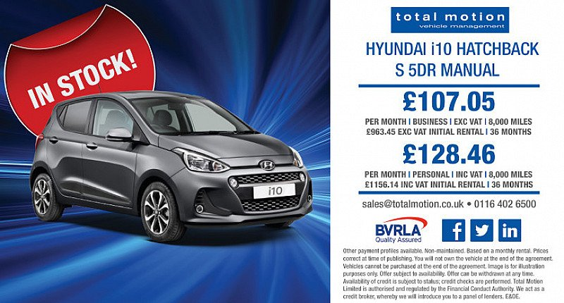 Special Leasing Offers on the Hyundai i10!