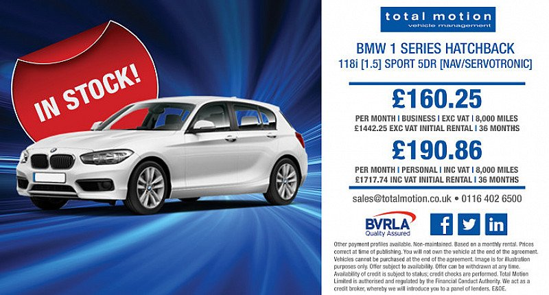 BMW 1 Series Sport | Lease from £160.25 p/m!