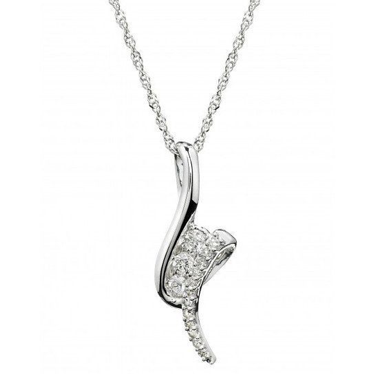 Save £150 on this 9ct white gold 0.20 carat diamond pendant