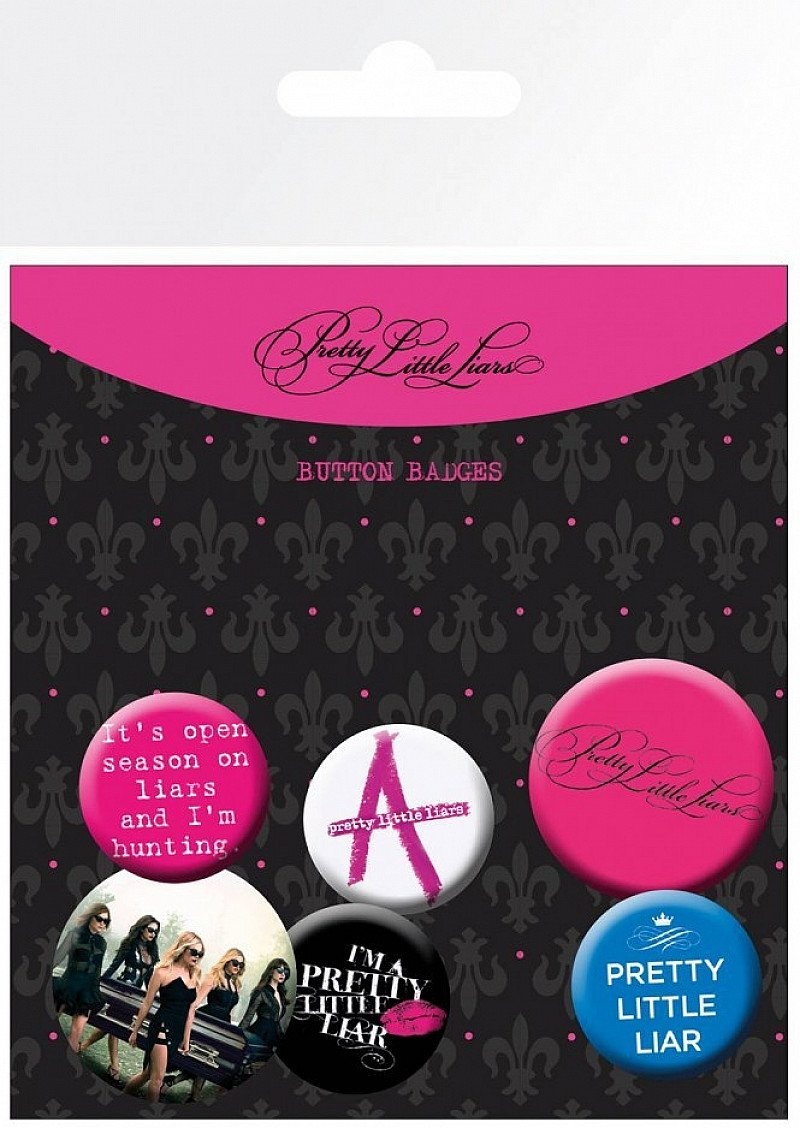 SALE: PRETTY LITTLE LIARS MIX BADGE PACK - Save £1.49!