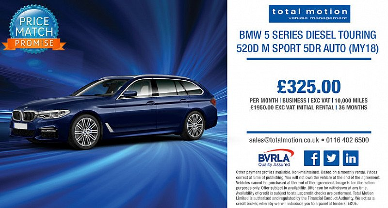 BMW 5 Series M Sport Auto Touring | Special Business Lease at £325 p/m!