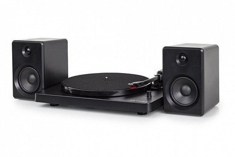 Victrola Modern Matte Black Turntable with Bluetooth Speakers (HMV Exclusive): Save £100.00!