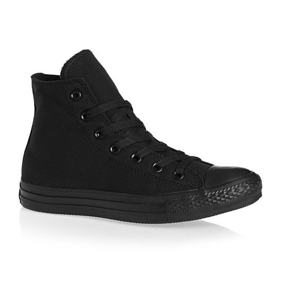 Converse black all star hi trainers: Save 50%!
