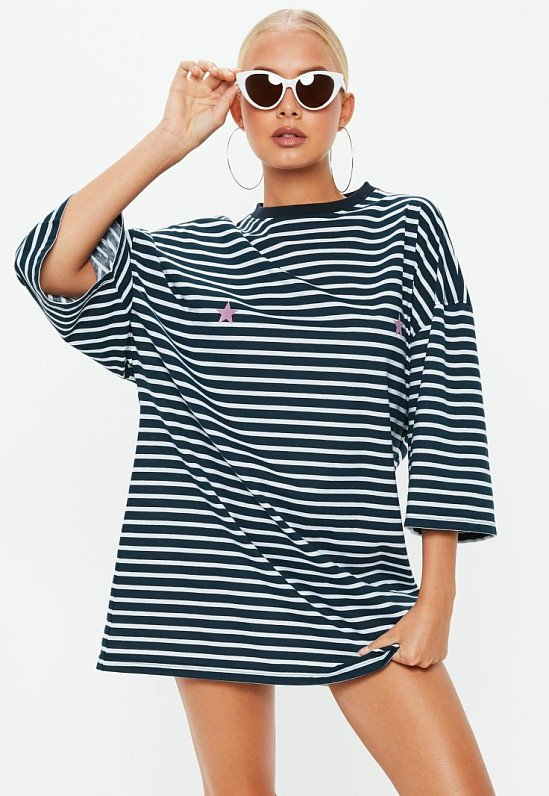 NEW IN - navy oversized t-shirt stripe dress £18.00!