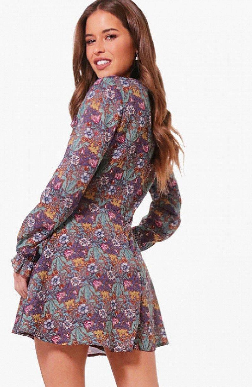 Save £16 on this Petite Sasha Ruffle Detail Woven Skater Dress