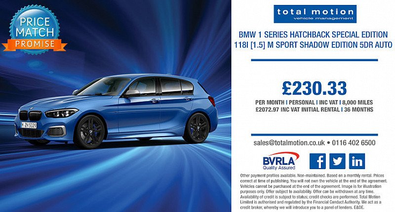 BMW 1 Series M Sport Shadow Edition Auto | Lease From £230.33 p/m!