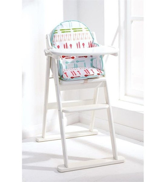 East Coast Folding Wooden Highchair - White: Save £25.15!