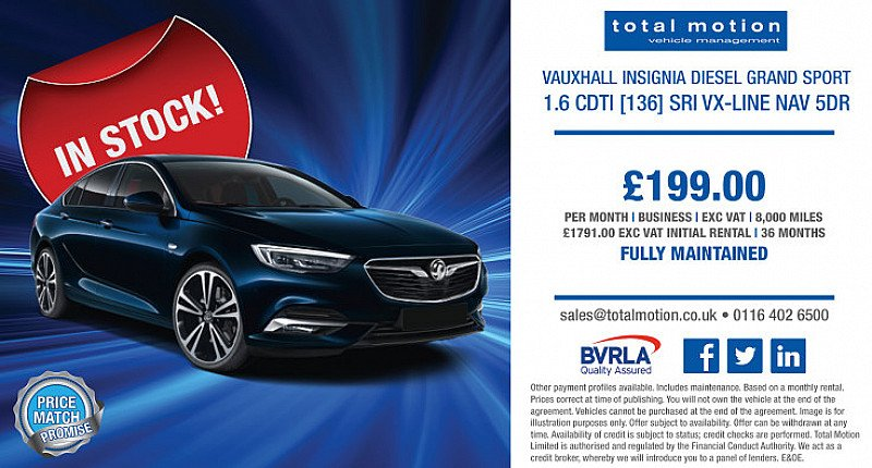Vauxhall Insignia Grand Sport | £199 + VAT P/M | FULLY MAINTAINED!