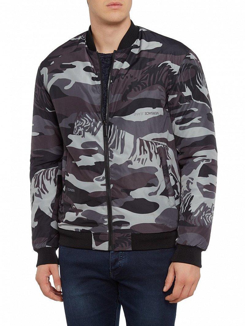 Save £150 on this Versace Camo Print Bomber Jacket