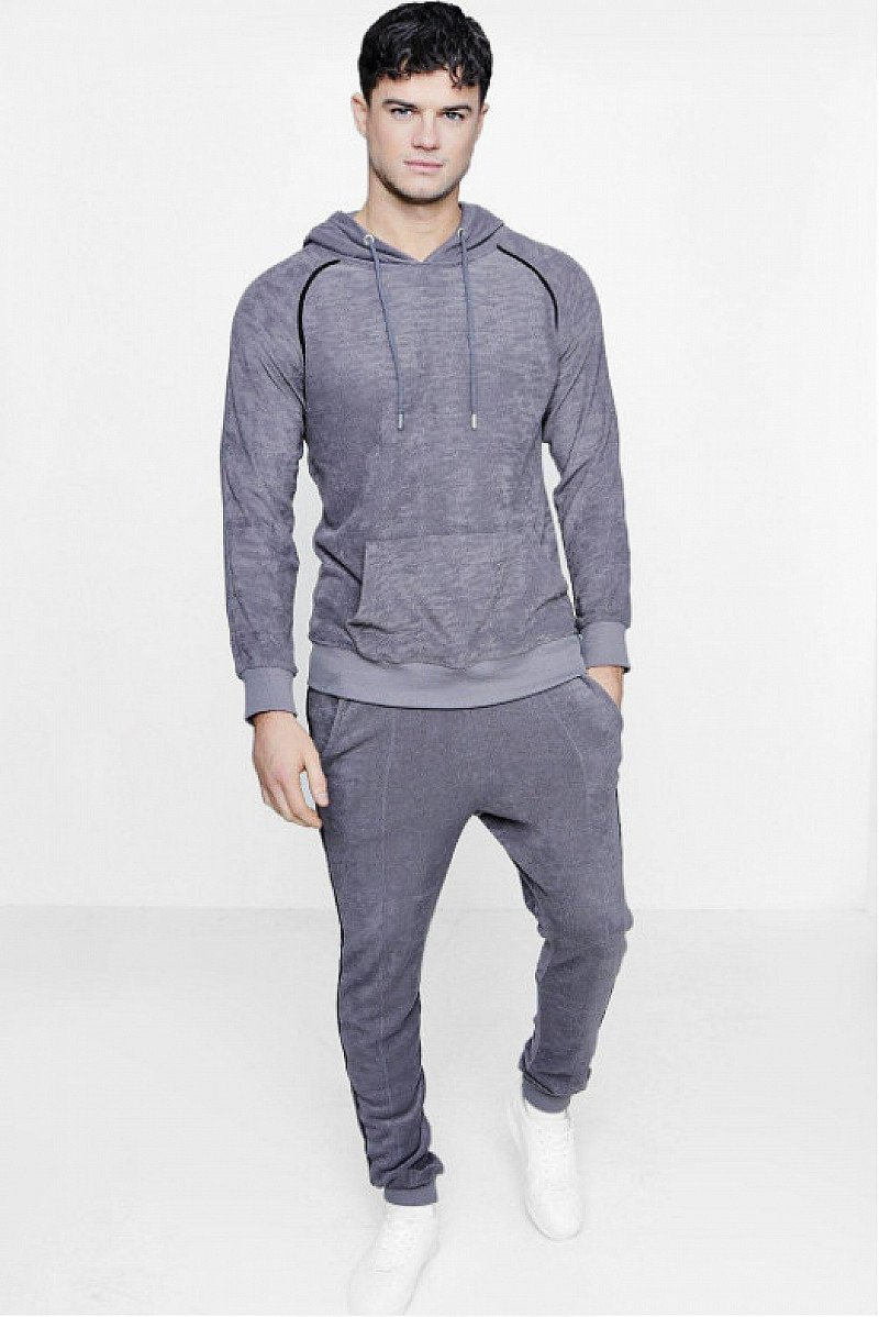 WOW! Men's Skinny Fit Hooded Tracksuit ONLY £20