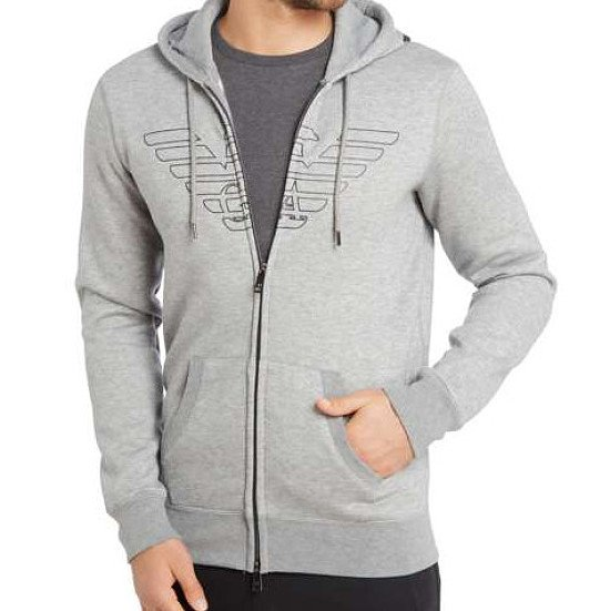 ARMANI JEANS Fleece Zip Up Hoody - SAVE %52!