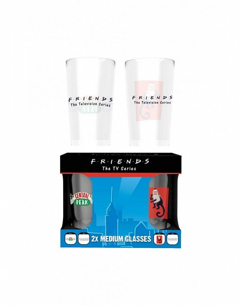 SAVE 50% on this FRIENDS MEDIUM GLASSES TWIN PACK