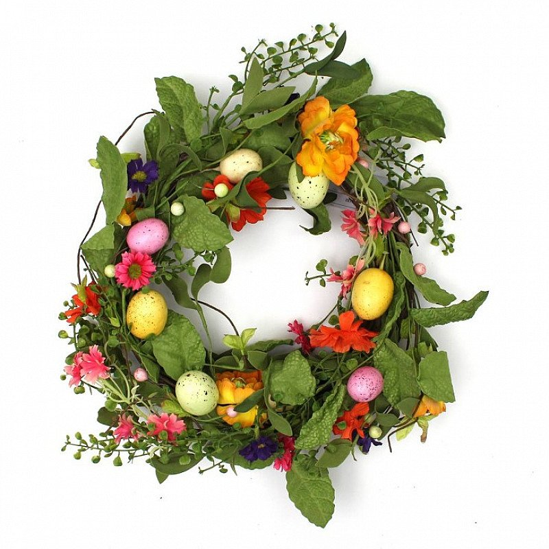Easter Floral Wreath with Eggs - Now ONLY £5