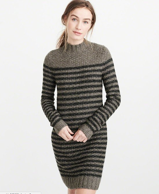 SAVE 60% on this Mock Neck Sweater Dress!