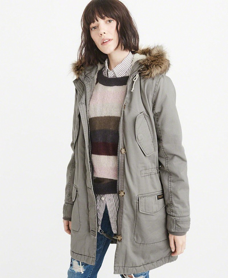 SAVE 80% on this Sherpa-Lined Twill Parka - NOW £40!