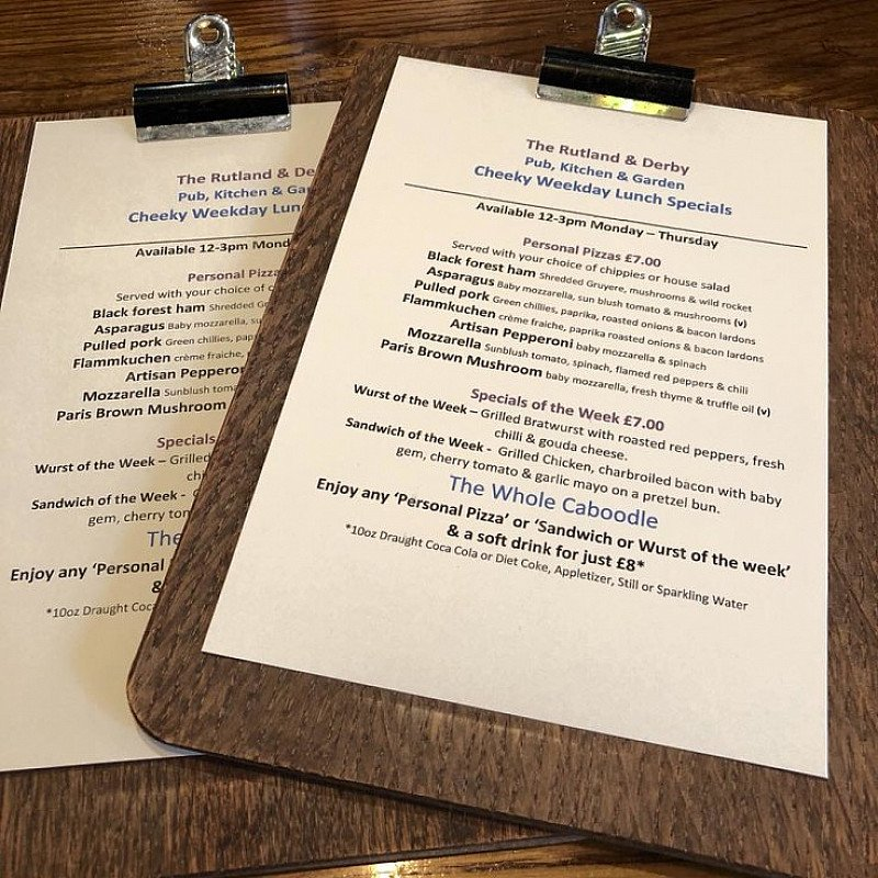 """Check out our new """"Cheeky Weekday"""" Lunch Specials"""