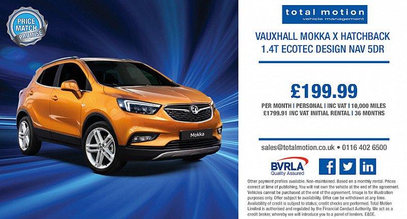 Vauxhall Mokka X 1.4T ecoTEC Design Nav | Just £199.99 p/m!