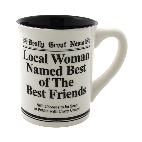 SAVE 70% on this 'Really Great News' Best Of The Best Friends Mug!