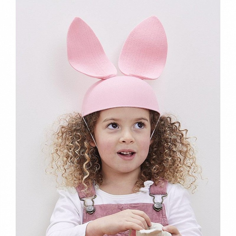 Pink Felt Hat with Bunny Ears: Save 75%!