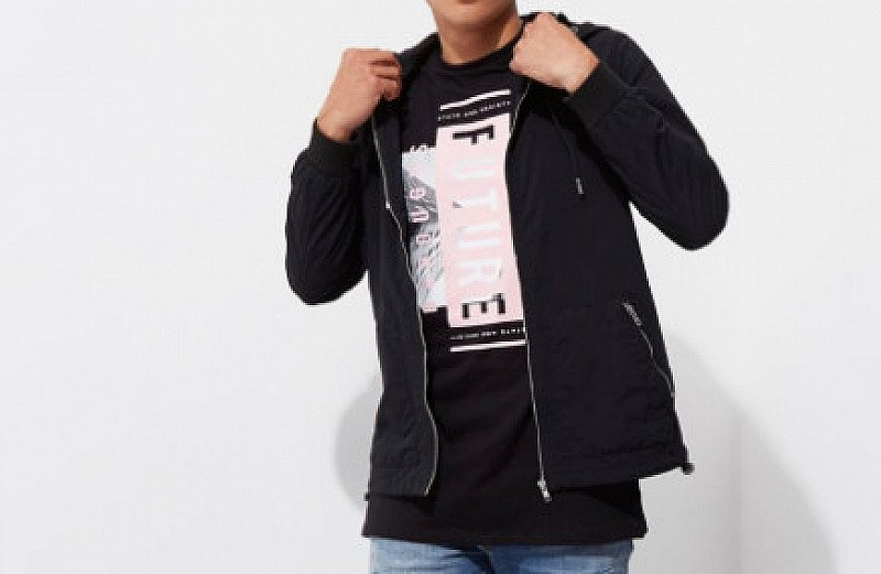 SAVE 55% on this Black Hooded Jacket!
