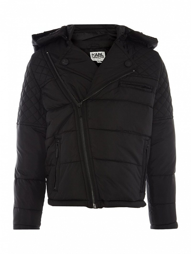50% OFF - KARL LAGERFELD Boys Padded Jacket With Removable Hood!