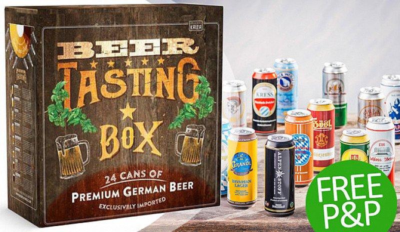 BEER TASTING Box: 24x 500ml German Beer Cans - SAVE 24%