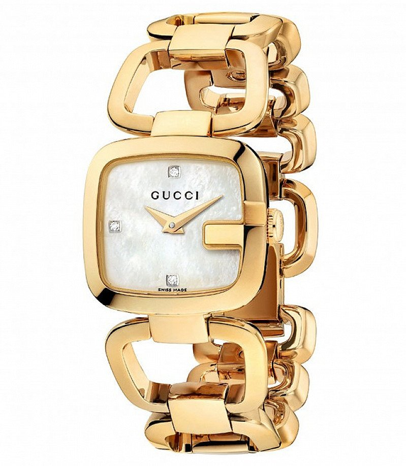 SAVE £100 on this Gucci G-Gucci ladies' gold-plated bracelet watch!