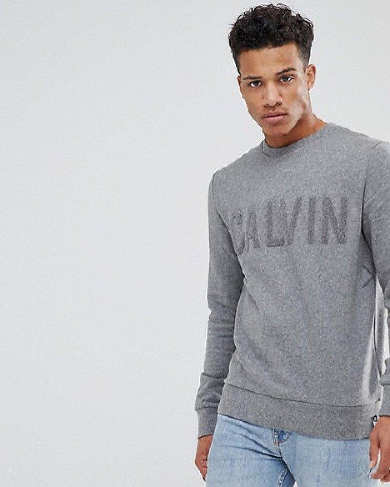 SAVE 26% on this Calvin Klein Logo Print Sweatshirt!