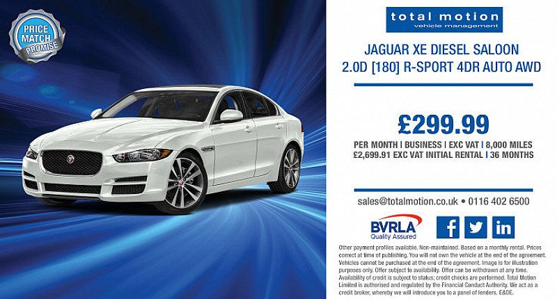 Jaguar XE 2.0 [180] R Sport AWD Auto | Business Leasing Special Offer £299.99 + VAT p/m!