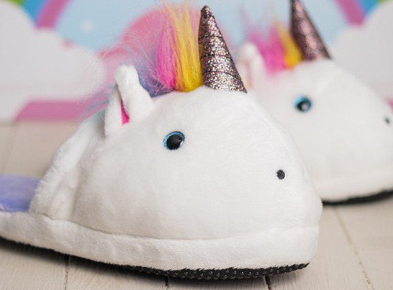 Get these UNICORN SLIPPERS - SAVE 50%!