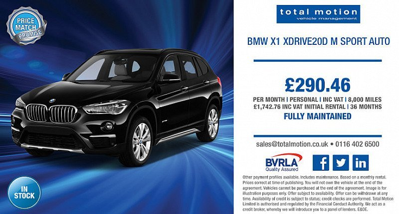 BMW X1 xDrive M Sport With Maintenance for just £290.46 P/M!