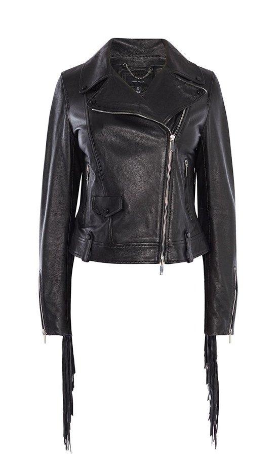 SAVE £134 on KAREN MILLEN Leather Fringed Jacket!