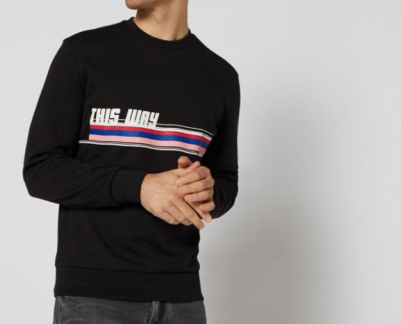 This Way Striped Graphic Sweatshirt - ONLY £20!