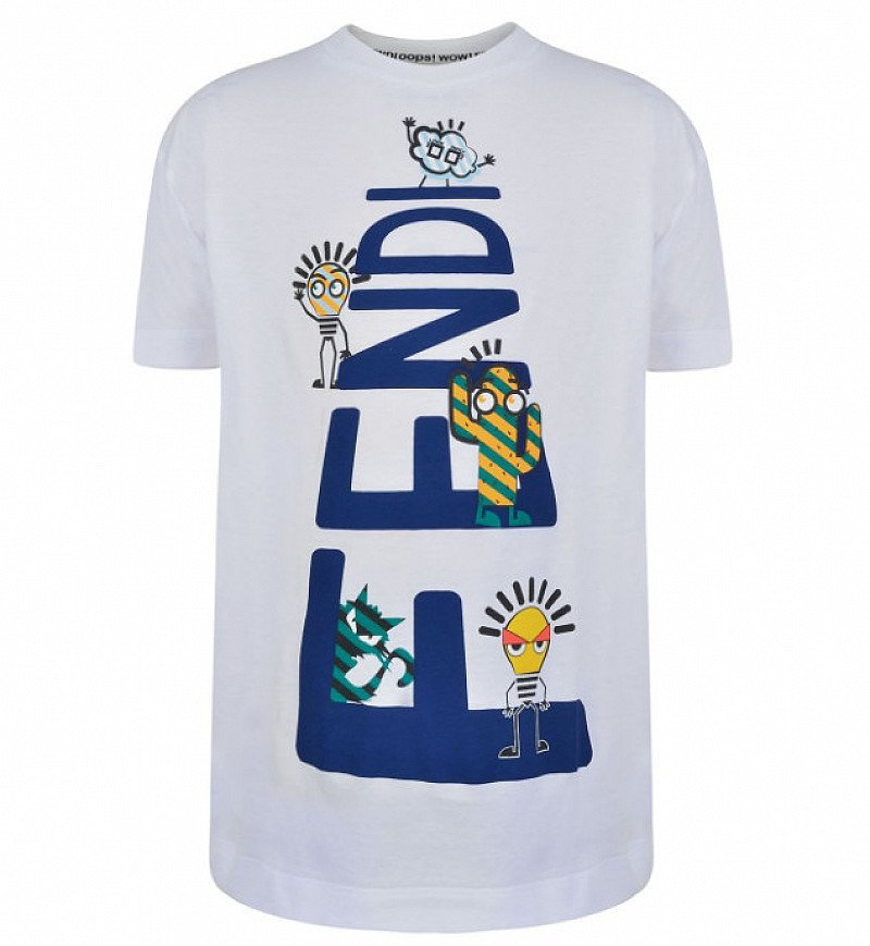 50% OFF - FENDI Child Boys Logo Crew T Shirt!