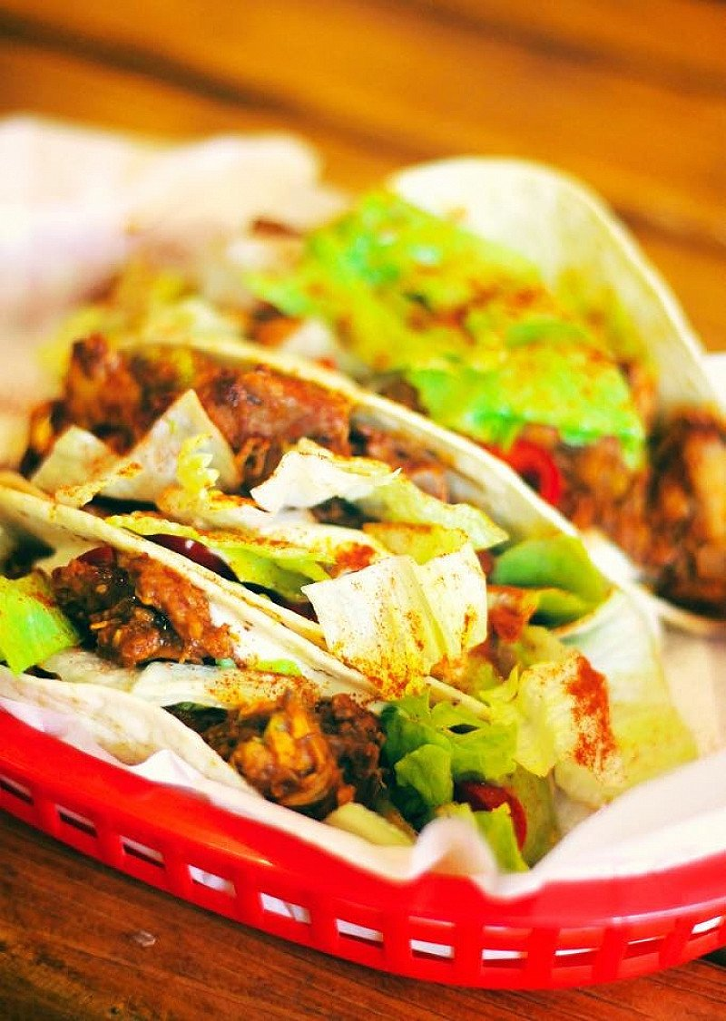 These are our tacos, we made these in store. Come grab some authentic Mexican food!