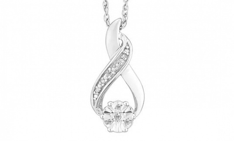 SAVE 69% on this Sterling Silver & Diamond Flower Cluster Pendant!