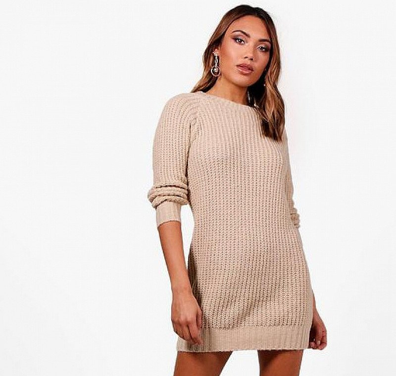 50% OFF this Soft Knit Jumper Dress!