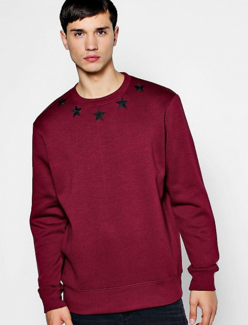 Mens Star Embroidered Sweater - ONLY £5!